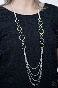 Paparazzi Beautifully Bubbly - Yellow Necklace