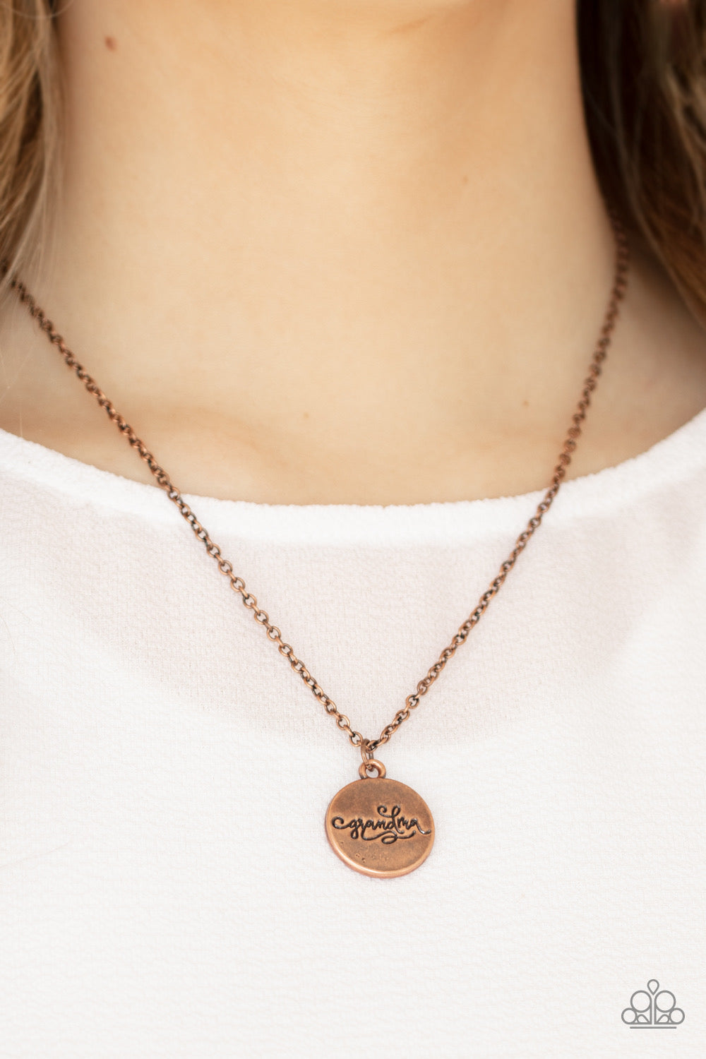 Paparazzi Worlds Best Grandma - Copper Necklace