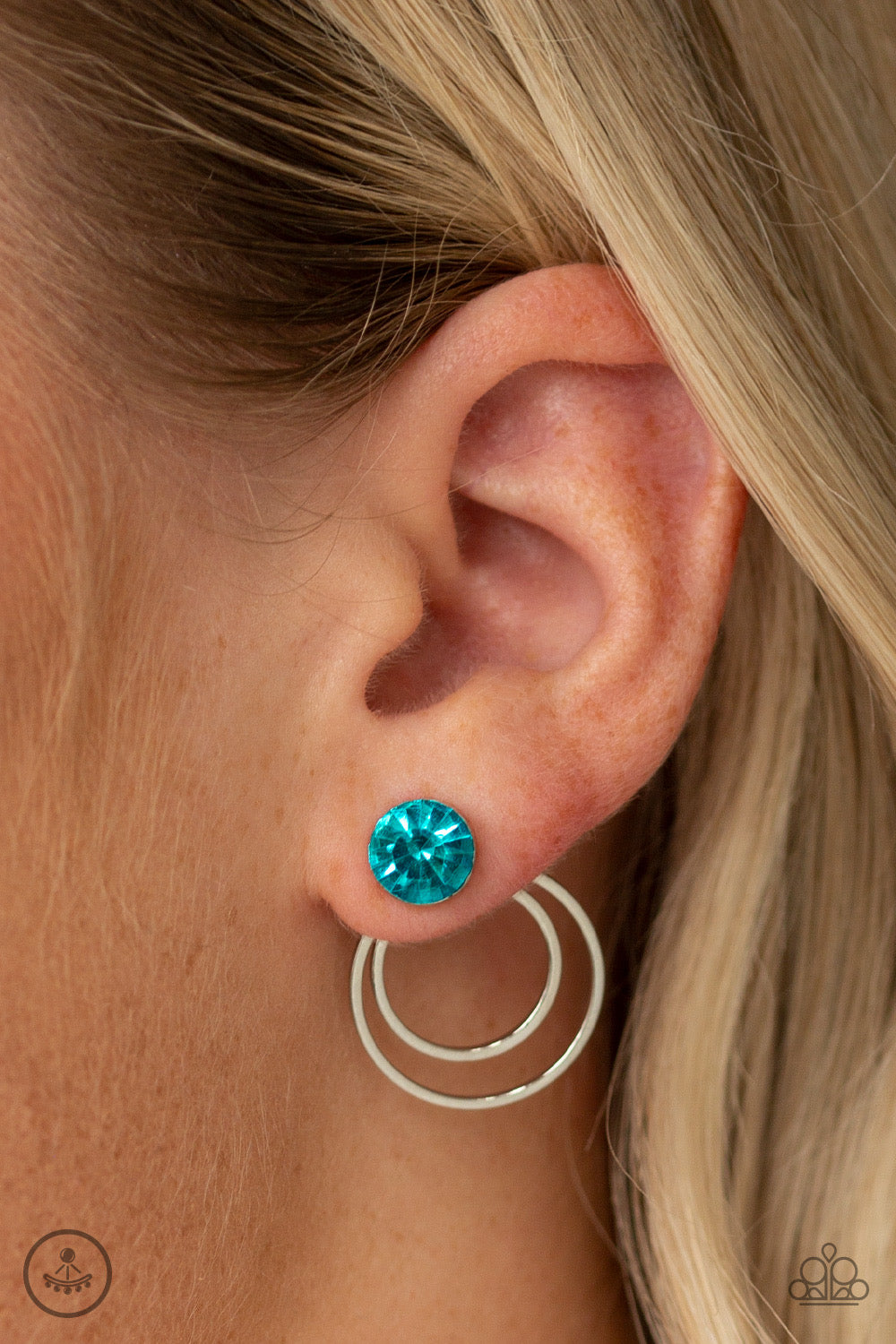 Paparazzi Word Gets Around Blue Post Earrings