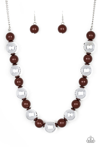 Paparazzi Top Pop - Brown Necklace