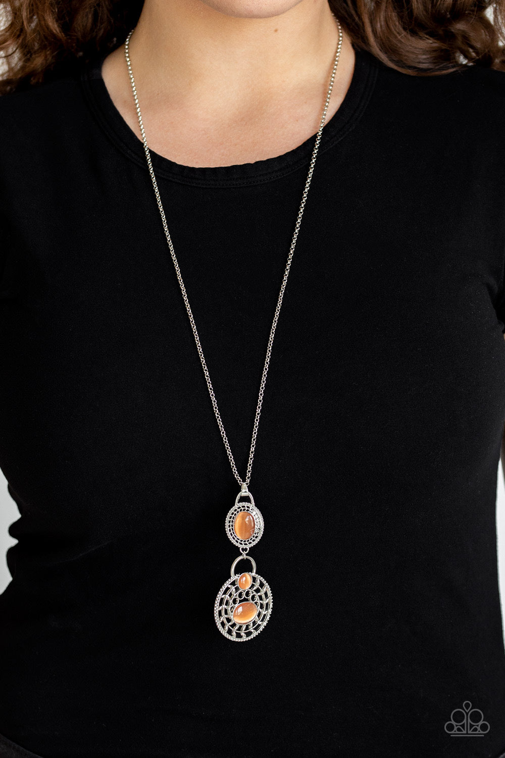 Paparazzi Hook, VINE, and Sinker - Orange Necklace