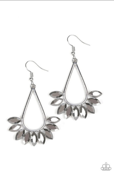 Paparazzi Be On Guard - Silver Earrings