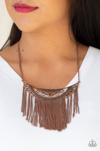 Paparazzi Empress Excursion - Copper Necklace