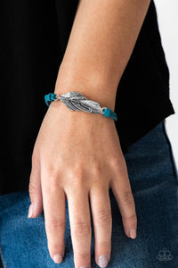 Paparazzi Faster Than FLIGHT - Blue Bracelet
