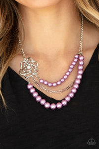 Paparazzi Fabulously Floral - Purple Necklace
