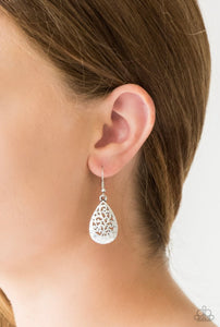 Paparazzi New Nouveau - Silver Earrings