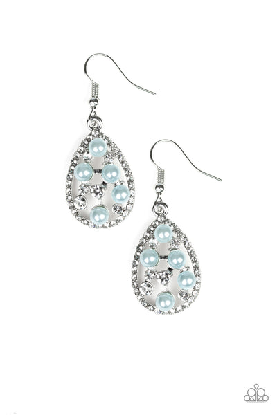 Paparazzi Fabulously Wealthy - Blue Earrings