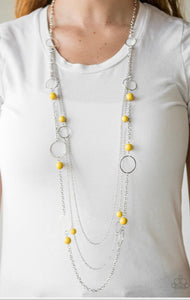 Paparazzi Beachside Babe - Yellow Necklace