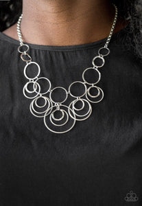 Paparazzi Break The Cycle - Silver Necklace
