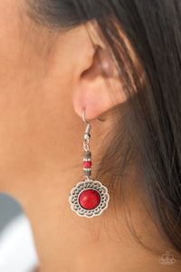 Paparazzi Desert Bliss - Red Earrings