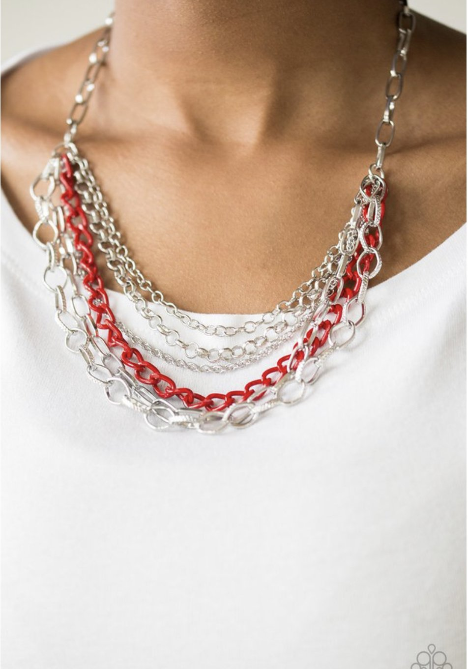 Paparazzi Color Bomb - Red Necklace