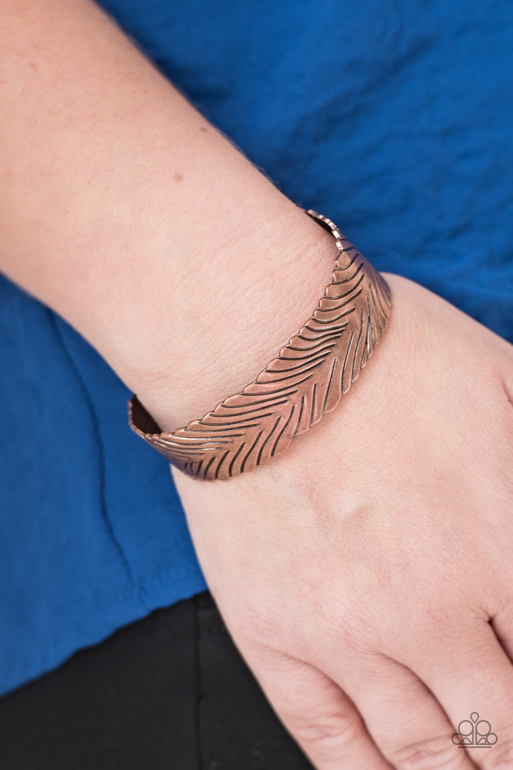 Paparazzi Ruffle Feathers - Copper Bracelet