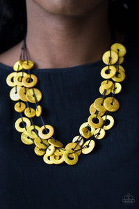 Paparazzi Wonderfully Walla Walla - Yellow Necklace