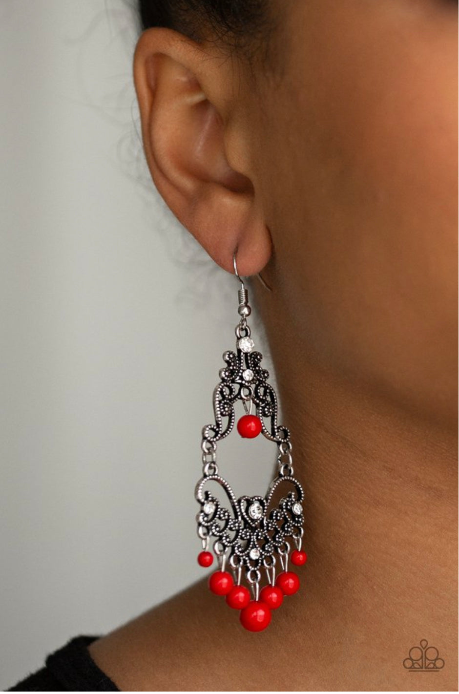 Paparazzi Colorfully Cabaret - Red Earrings