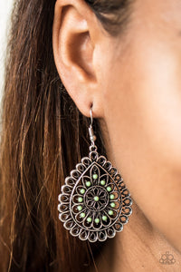 Paparazzi Sweet As Spring - Green Earrings