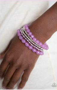 Paparazzi Sugary Sweet - Purple Bracelet
