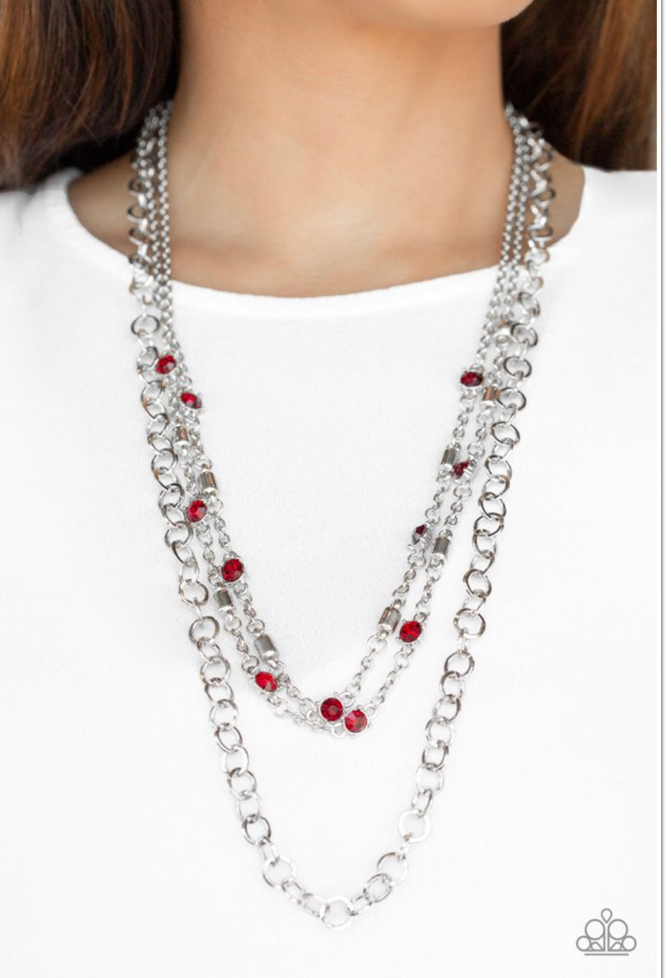 Paparazzi Metro Mixer - Red Necklace