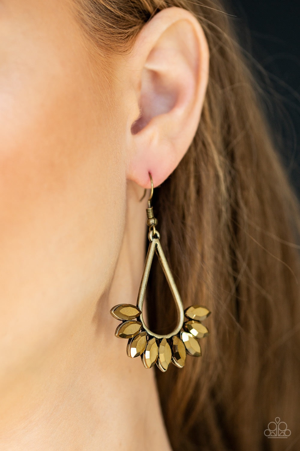 Paparazzi Be On Guard - Brass Earrings