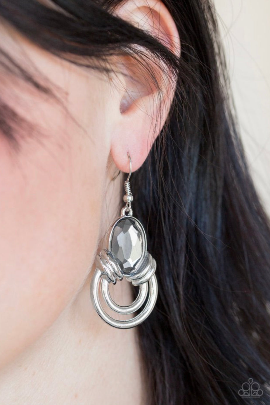 Paparazzi Real Queen - Silver Earrings