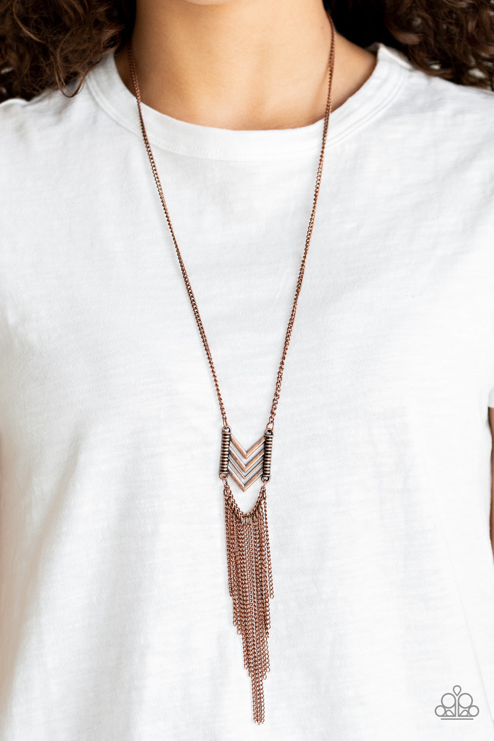 Paparazzi Point Taken - Copper Necklace