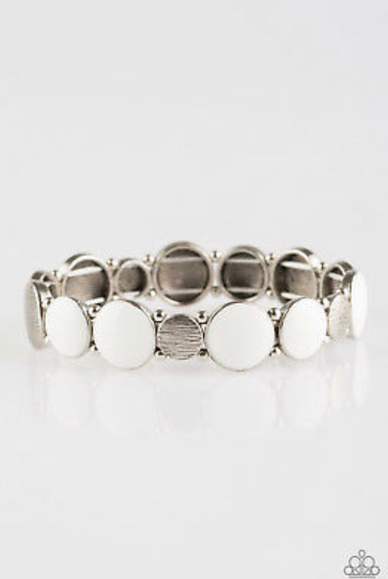 Paparazzi Bubble Blast - White Bracelet