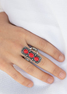 Paparazzi Desert Destiny Red Ring