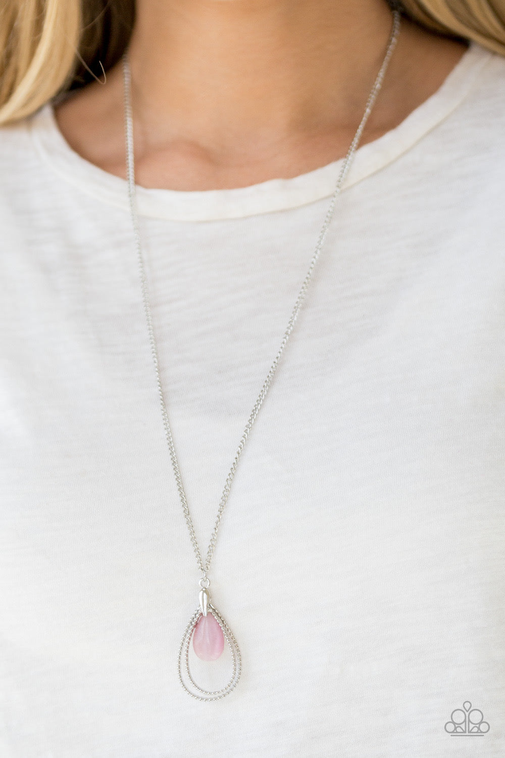 Paparazzi Teardrop Tranquility - Pink Necklace