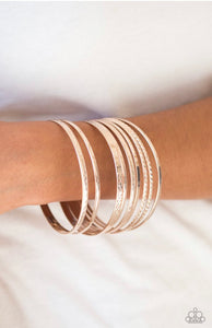 Paparazzi Am I BRIGHT? - Rose Gold Bracelet
