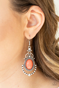 Paparazzi CAMEO and Juliet - Orange Earrings