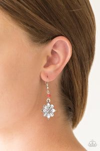 Paparazzi Cactus Blossom - Red Earrings