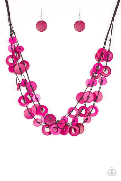 Paparazzi Wonderfully Walla Walla - Pink Necklace