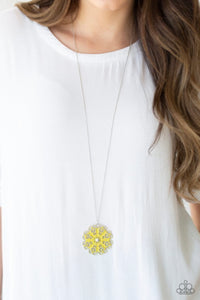 Paparazzi Spin Your PINWHEELS - Yellow Necklace