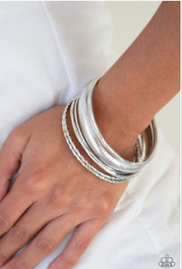 Paparazzi The Customer Is Always BRIGHT - Silver Bracelet