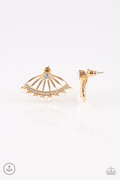 Paparazzi Drama Queen Dimension - Gold Earrings