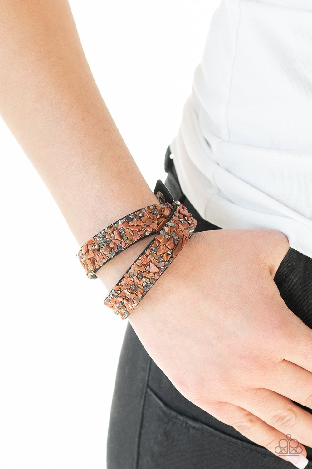 Paparazzi CRUSH Hour - Brown Bracelet