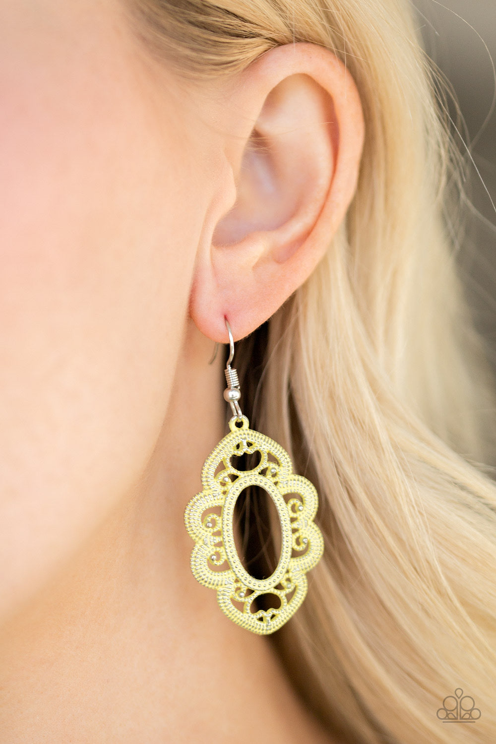 Paparazzi Mantras and Mandalas - Yellow Earrings
