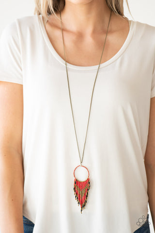 Paparazzi Badlands Beauty - Red Necklace