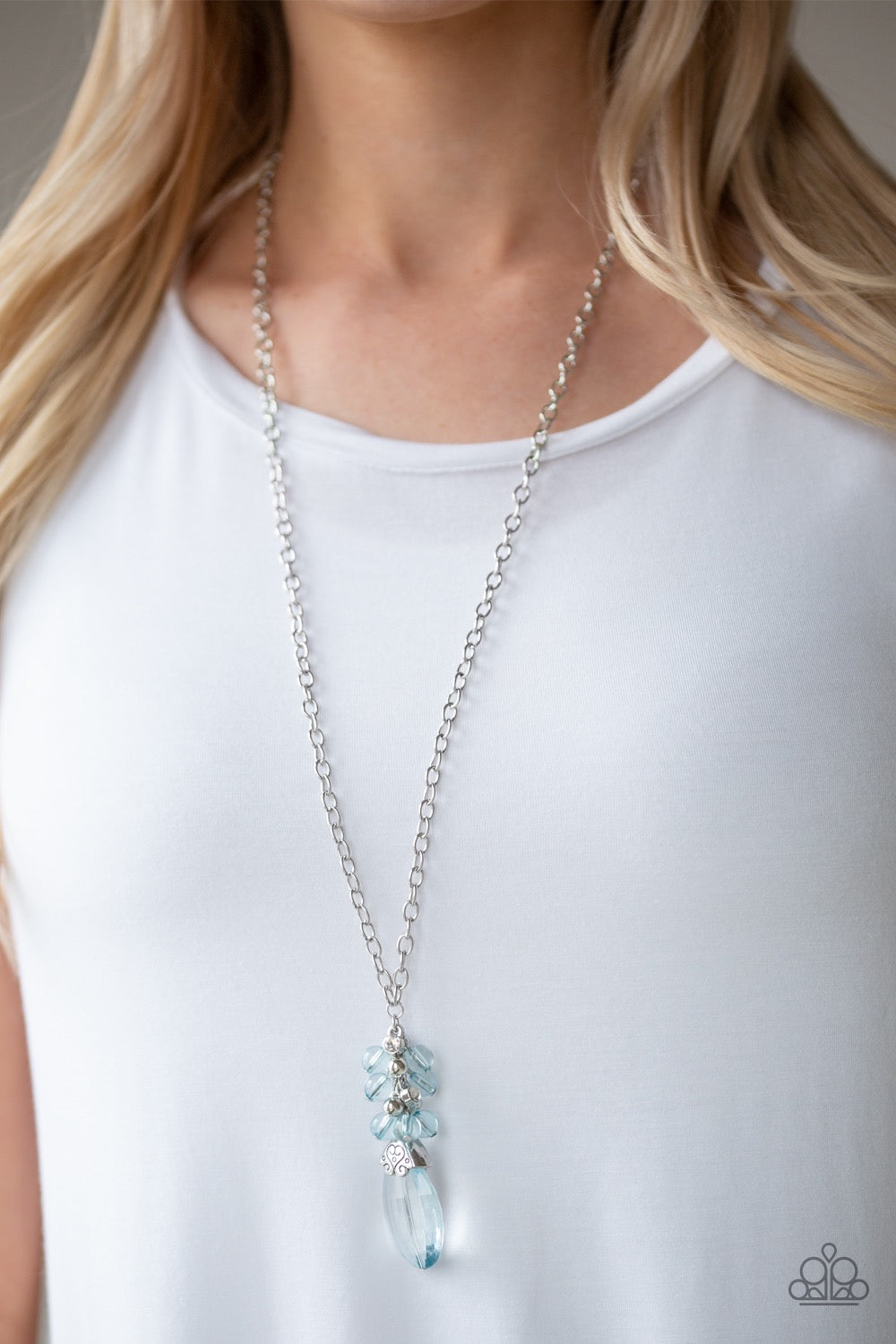 Paparazzi Crystal Cascade - Blue Necklace