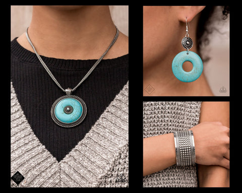 COMING SOON - Paparazzi Turquoise $15 Set - Epicenter of Attention Necklace, Matching Earrings and Bracelet