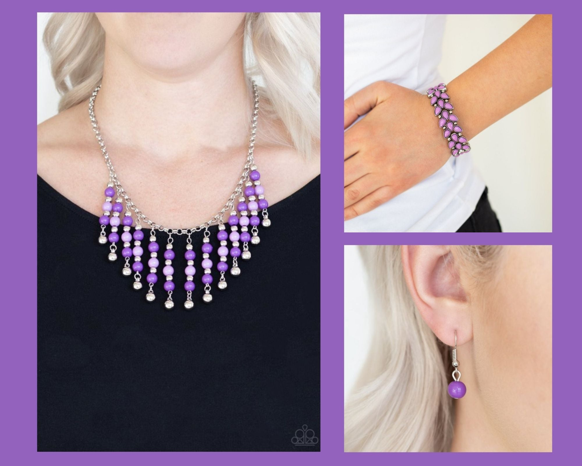 Paparazzi Purple $10 Set - Your SUNDAES Best Necklace and Vintage Venture Bracelet