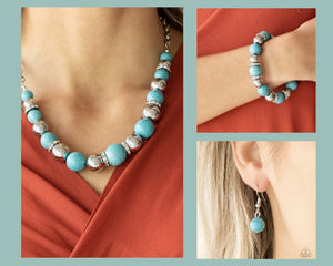 Paparazzi Blue $10 Set - The Ruling Class Necklace and Ruling Class Radiance Bracelet