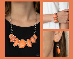 Paparazzi Orange $10 Set - Primitive Necklace and Feel At HOMESTEAD Bracelet