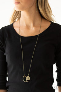 Paparazzi Abstract Aztec Brass Necklace