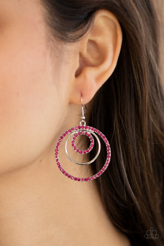 Paparazzi Bodaciously Bubbly - Pink Earrings