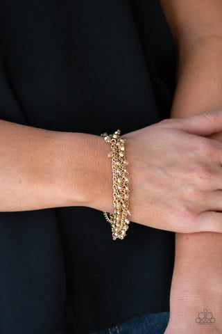Paparazzi Cash Confidence Gold Bracelet