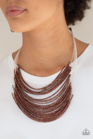 Paparazzi Catwalk Queen Copper Seed Bead Necklace