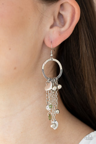 Paparazzi Charm School Green Earrings