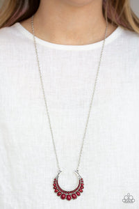 Paparazzi Count to ZEN Red Necklace