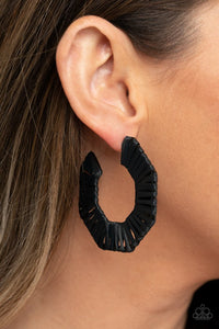 Paparazzi Fabulously Fiesta Black Earrings