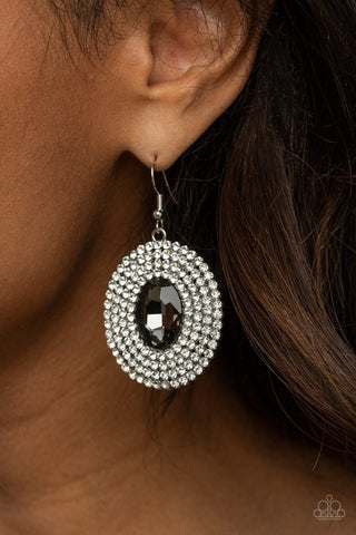Paparazzi FIERCE Field Silver Earrings